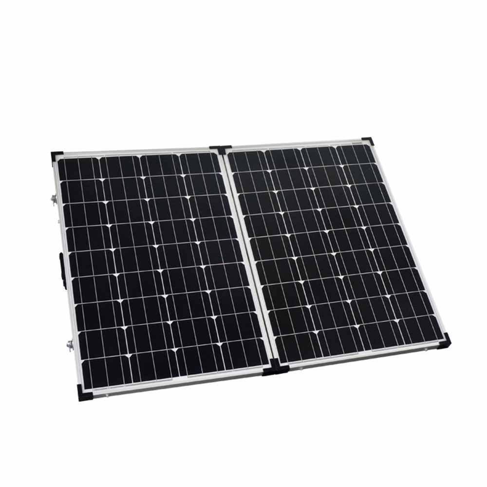 Hinergy Folding Camping Solar Panels 100 Watt 2x50W for RV Boat Caravan 12V Solar Kits from China Supplier Thumb 1