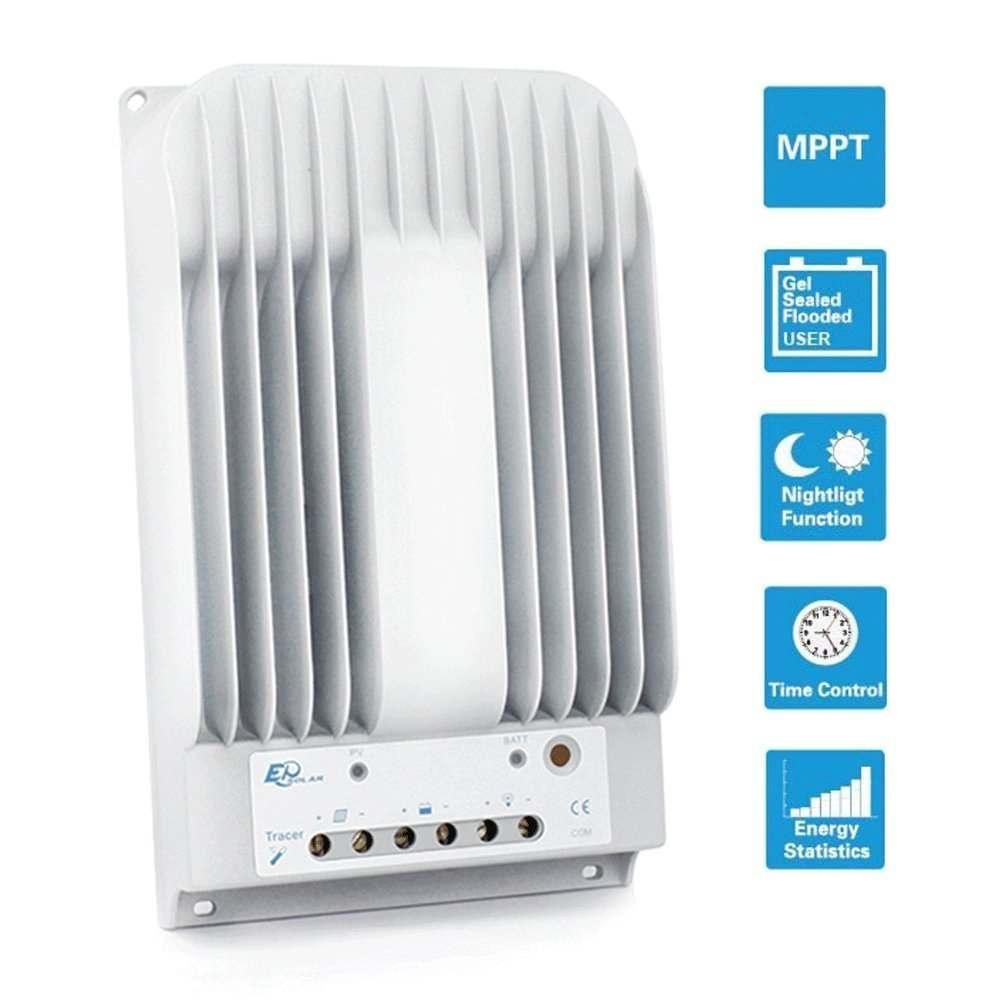 EPEVER 10Amp 20Amp 30 Amp 40 Amp 12V/24V DC Input MPPT Solar Charge Controller Thumb 1