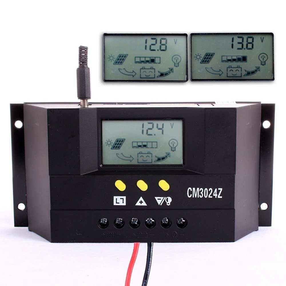 30 Amp 50A 60A PWM Smart Solar Charge Controller with LCD Display Thumb 2