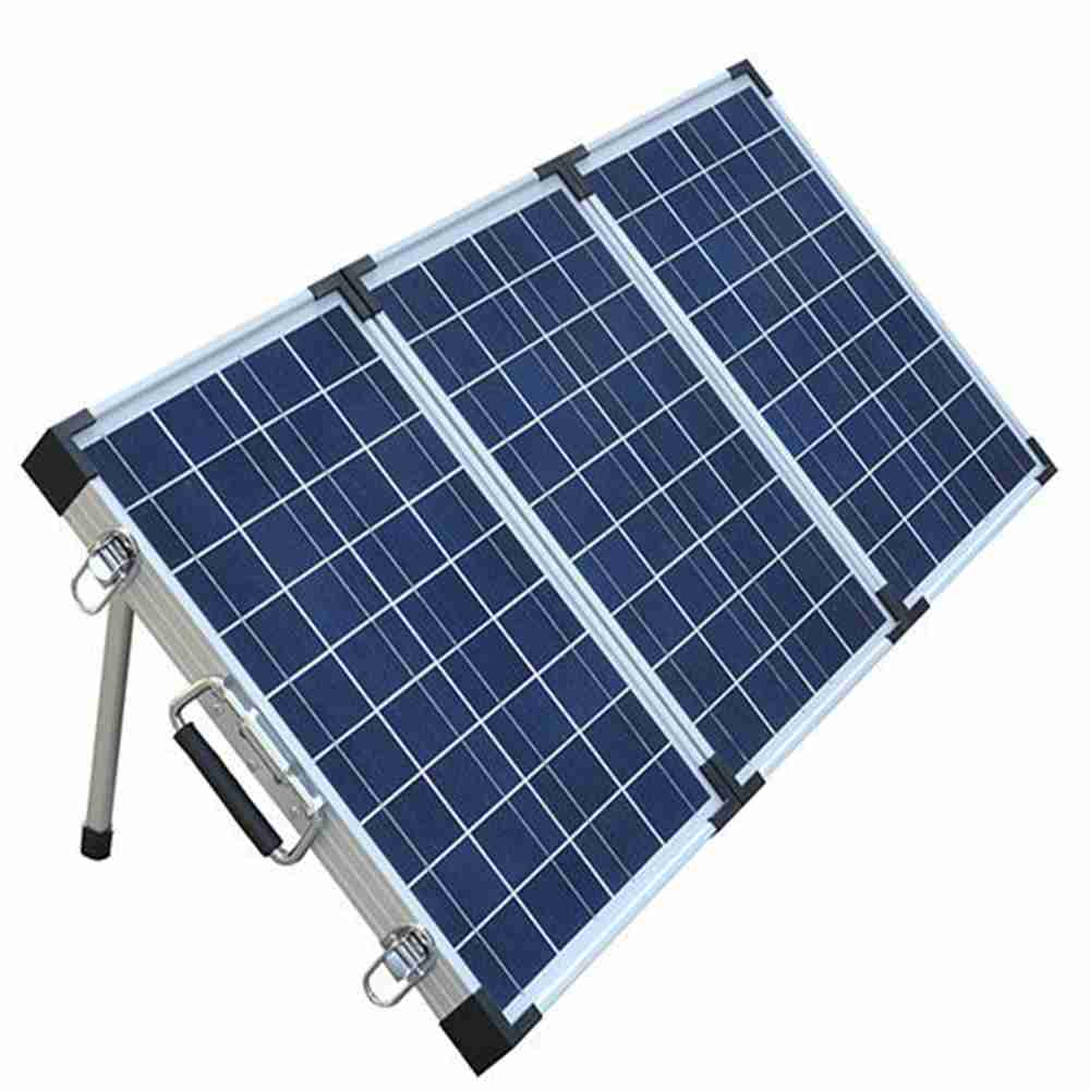 Hinergy 120w folding solar panel charger for 12V RV boat caravan charging from China manufacturer. Thumb 1