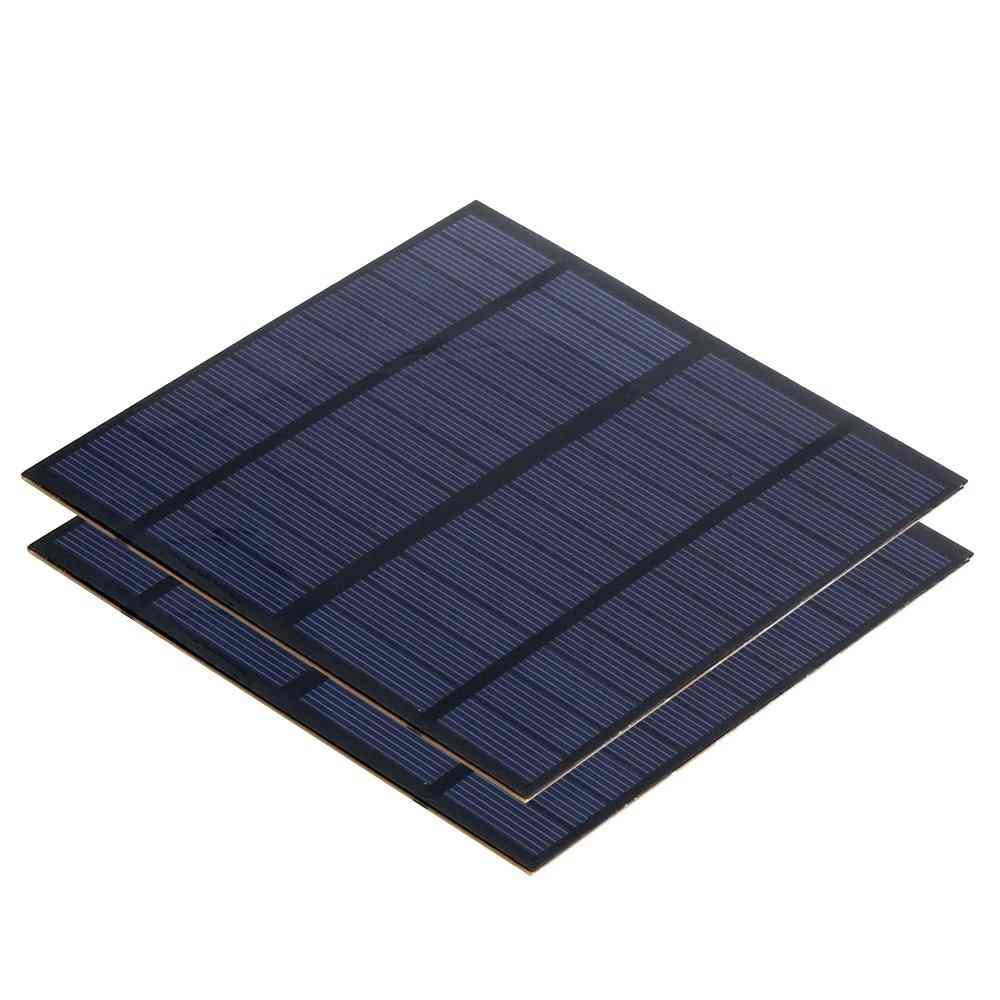 3W 12V Mini Solar Cell Portable DIY Solar Panel for Battery Powered LED Solar Test and Education Thumb 1