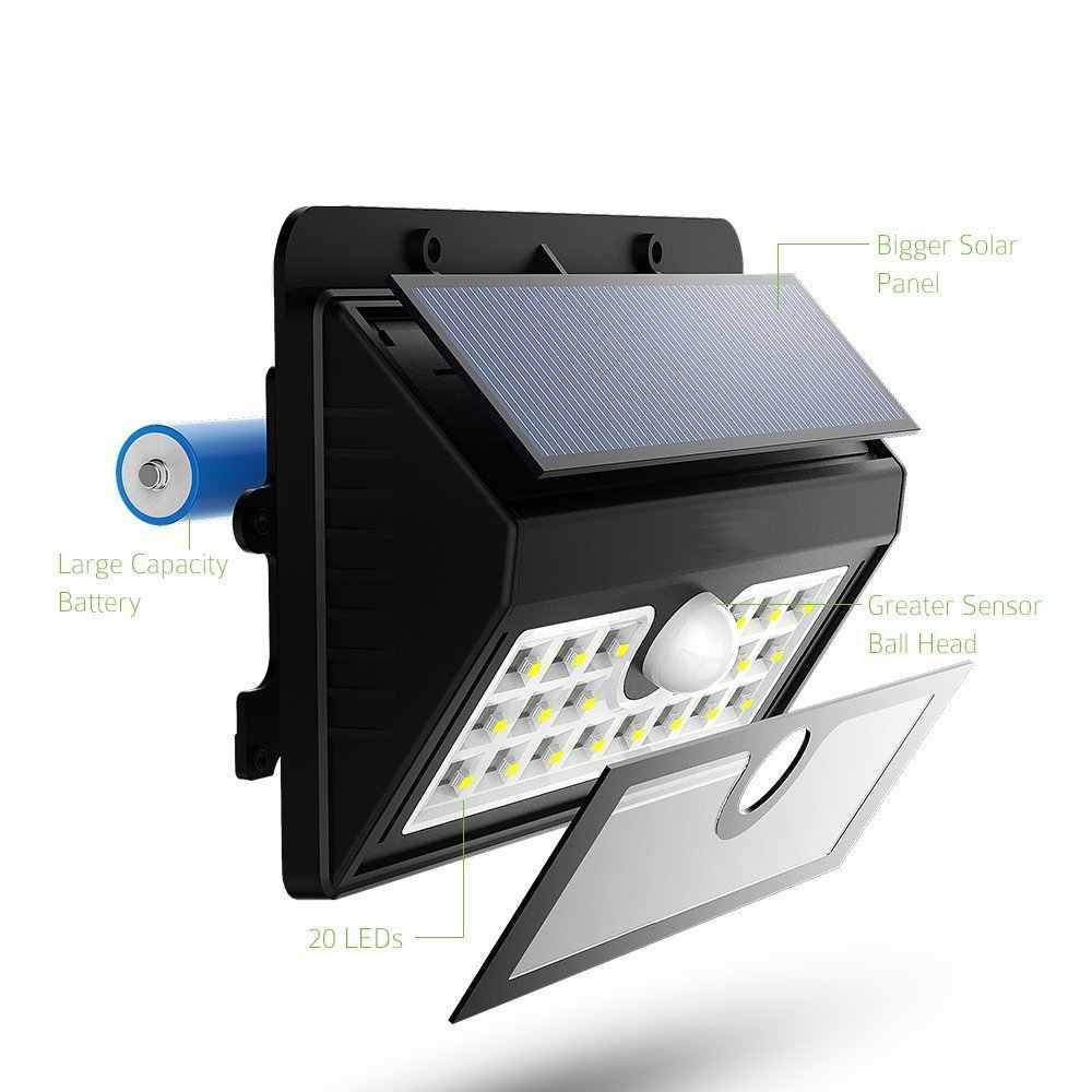 Solar Motion Sensor Lights Wall Lights Outdoor Solar Energy Powered Security Light Solar Light for Patio Deck Yard Garden Thumb 2