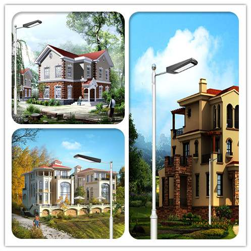 10W All in One LED Solar Wall Light – Solar Street Light with lamp Pole Thumb 5