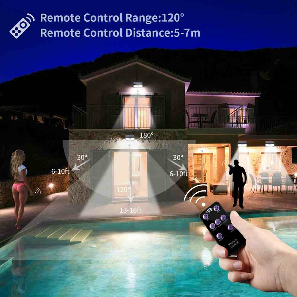 Buy LED Solar Wall Mount Outdoor Lights with Remote Control from China Thumb 5