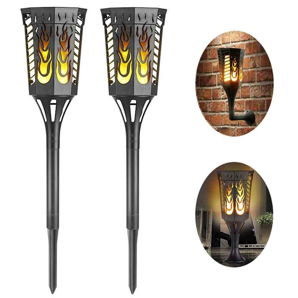 Outdoor Waterproof Flickering Flames Solar Torch Lights ...