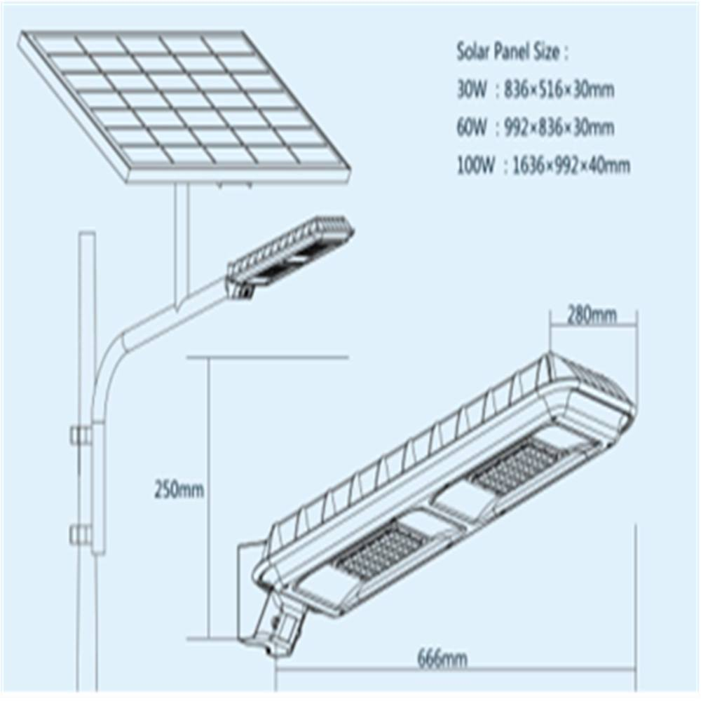 LED Solar Street Light for Municipal Engineering from China Manufacturer Thumb 2