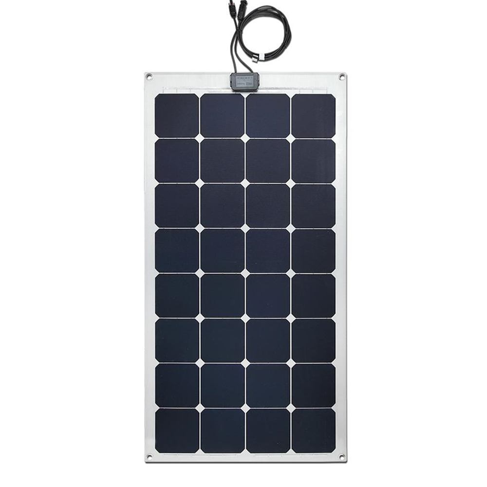 Hinergy Marine Solar Panel 100W 18V with Aluminium Back Sheet for 12V Charge Battery on Boats, Caravans, Motorhomes, Yachts,RVs. Thumb 1