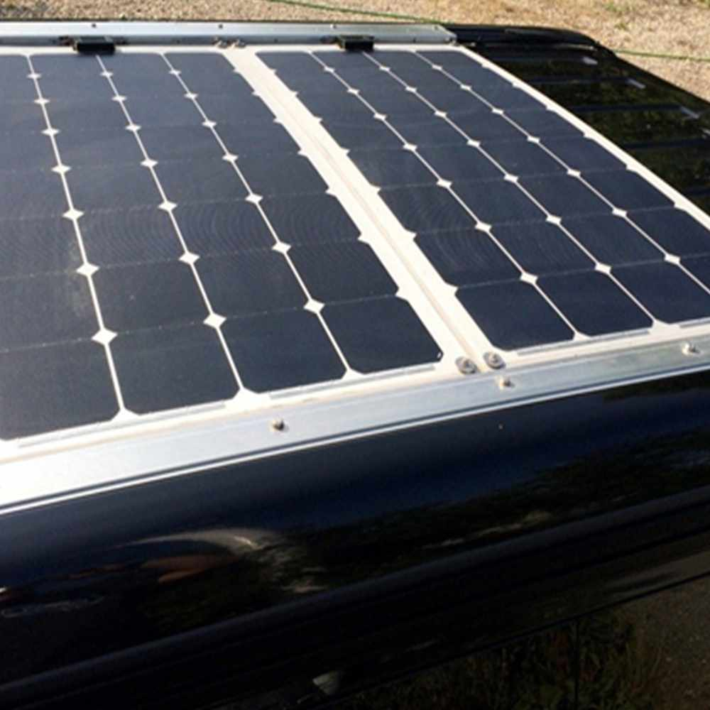 Hinergy Marine Solar Panel 100W 18V with Aluminium Back Sheet for 12V Charge Battery on Boats, Caravans, Motorhomes, Yachts,RVs. Thumb 6