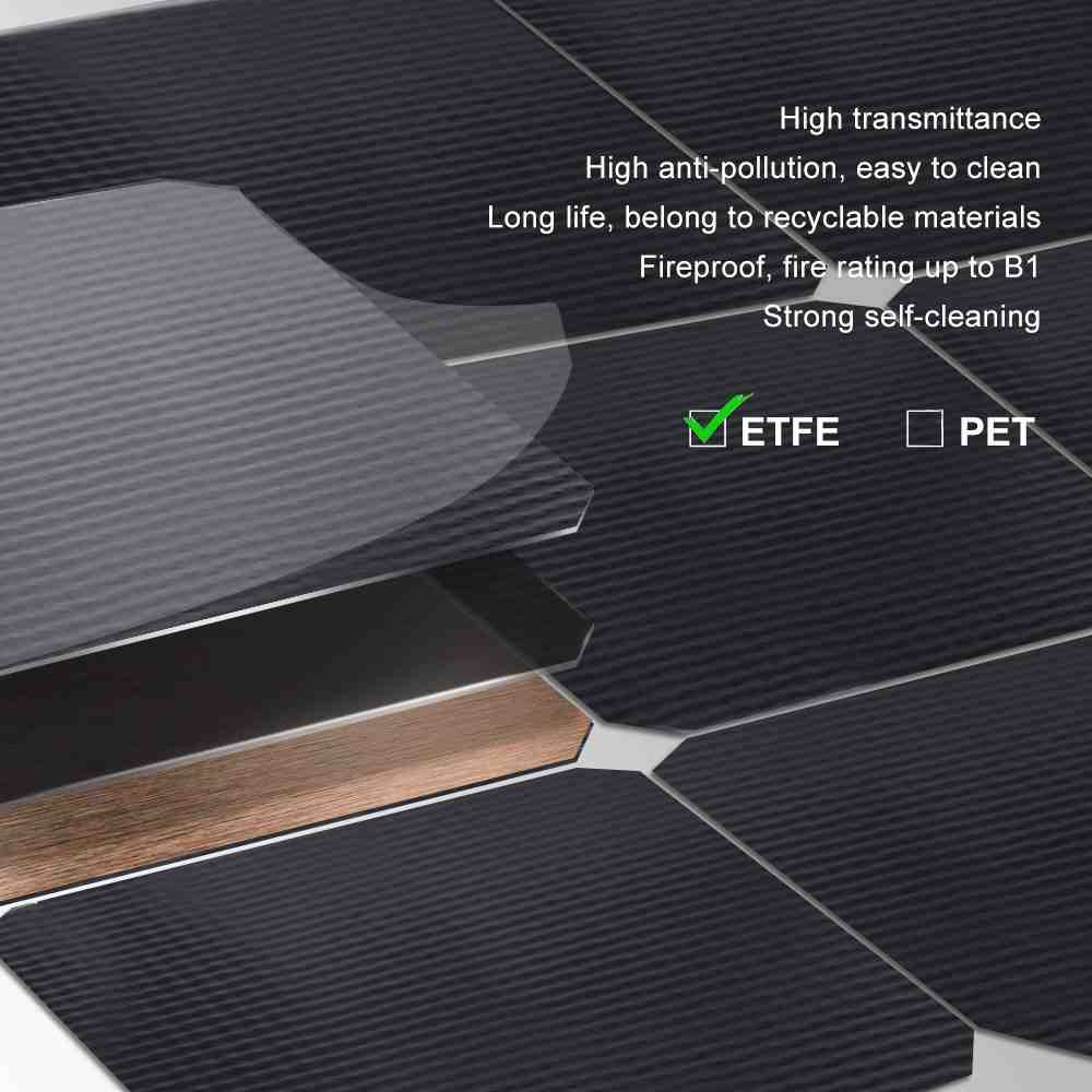 SunPower Solar Cell ETFE Flexible Solar Panel 100W 18V 12V Solar Panel Charger Solar Power Flexible Ultra Thin Charging for RV Travel Trailer Van Truck Car SUV Pontoon Boat Cabin Tent Thumb 2