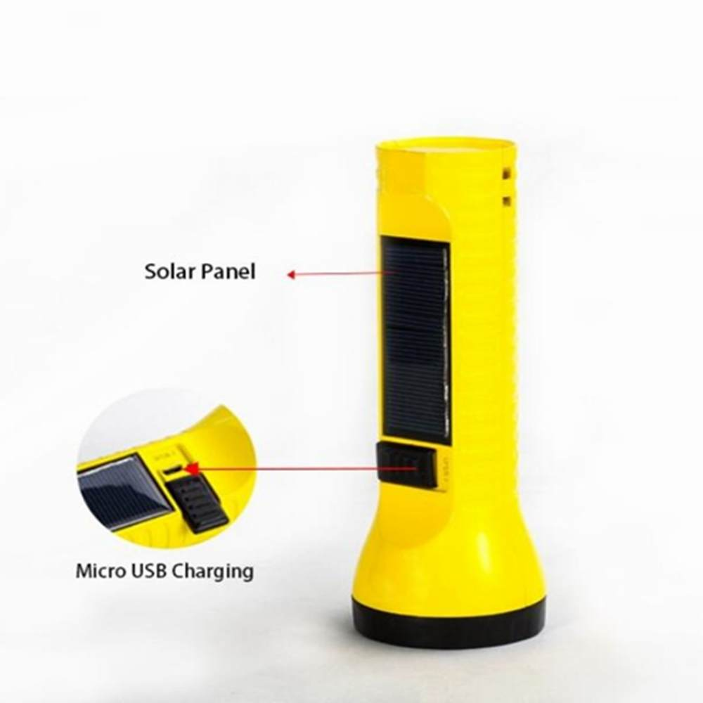 Portable rechargeable solar flashlight with dual light sources for reading Camping, Hiking, Climbing, Outdoor Sports, Vehicle, Auto Emergency Kit made in China Thumb 2