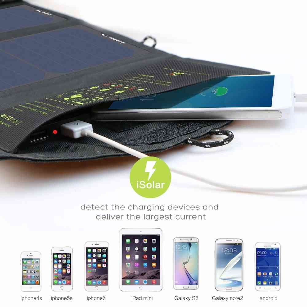 Foldable Solar Panel Charger 10W for cell phones, iphone, iPad, iPods and Android 5V USB Charging devices with High Efficiency Sun Power foldable Solar Panel Charger from China Suppliers Thumb 4