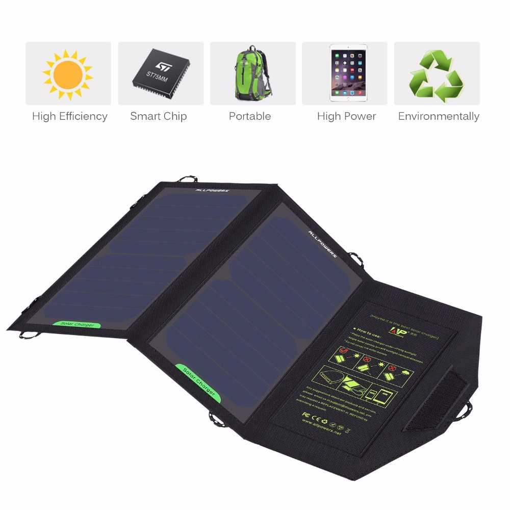 Foldable Solar Panel Charger 10W for cell phones, iphone, iPad, iPods and Android 5V USB Charging devices with High Efficiency Sun Power foldable Solar Panel Charger from China Suppliers Thumb 1