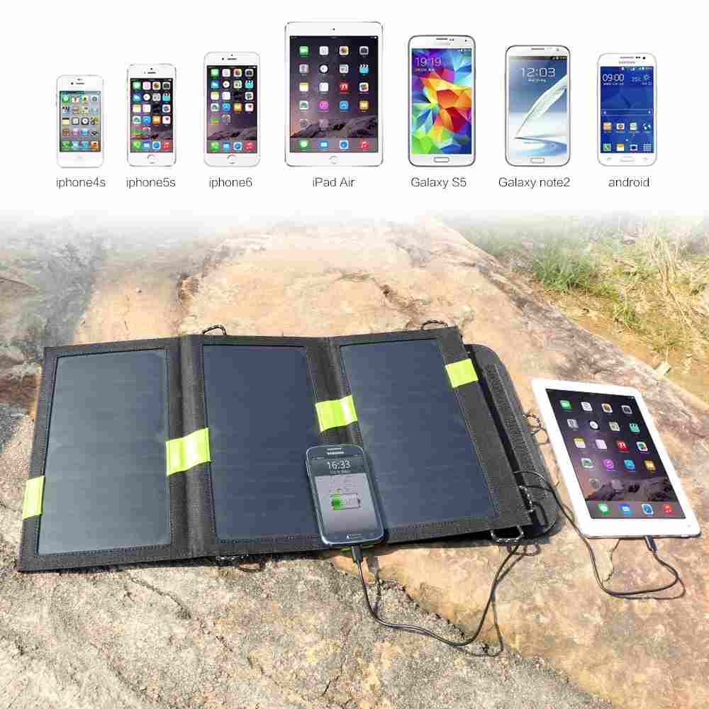 Hinergy 15W Foldable Solar Charger with Dual USB Port, SunPower Panels with Built-in Smart Chips, Auto-ID Tech from China Manufacturer Thumb 3
