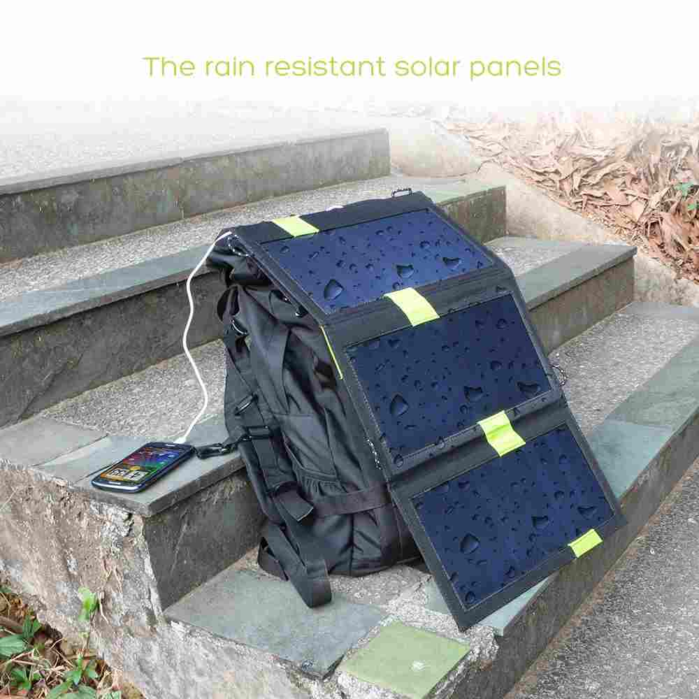 Hinergy 15W Foldable Solar Charger with Dual USB Port, SunPower Panels with Built-in Smart Chips, Auto-ID Tech from China Manufacturer Thumb 4