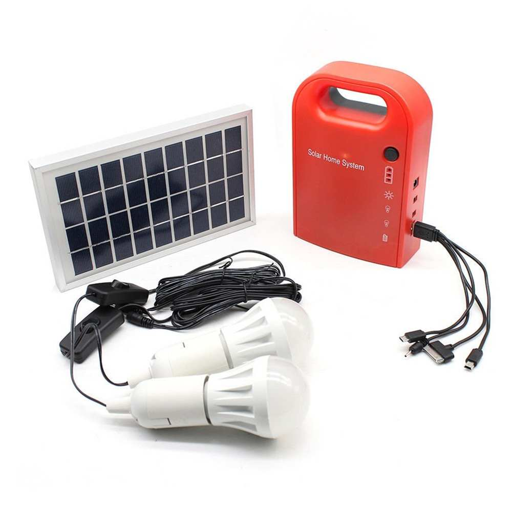 Mini portable solar lighting system with USB output port for device charging made in China Thumb 1
