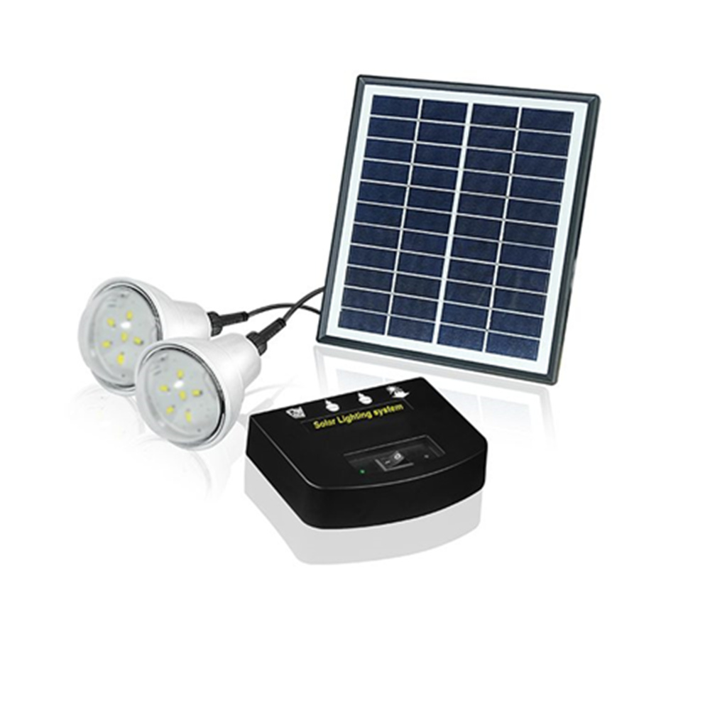 Solar Lighting System Home with 2 LED lights match with lithium ...