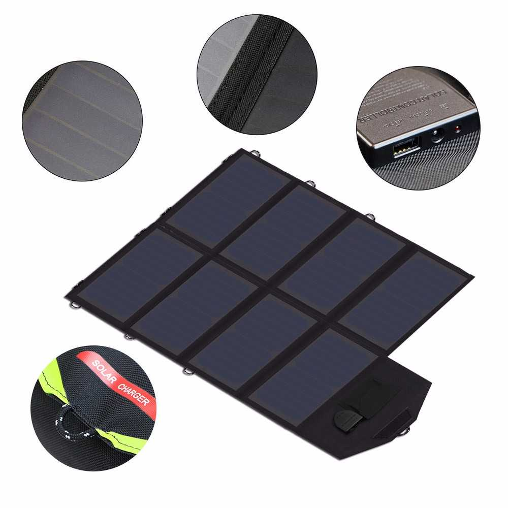 Solar phone charger 40W Solar Panel with triple output ports 5V*2*2PCS & 18V*2A for charging smartphones, tablets, car battery,laptops from China supplier Thumb 2