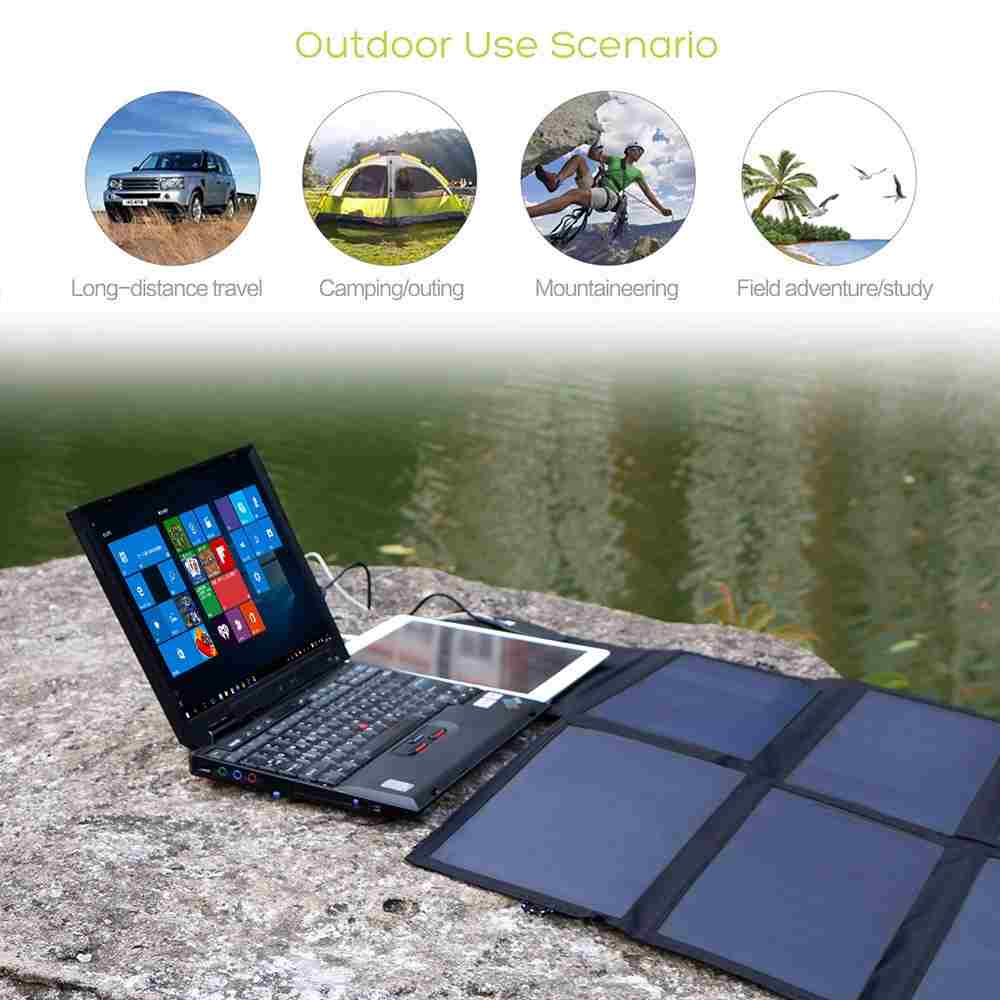 Solar phone charger 40W Solar Panel with triple output ports 5V*2*2PCS & 18V*2A for charging smartphones, tablets, car battery,laptops from China supplier Thumb 4