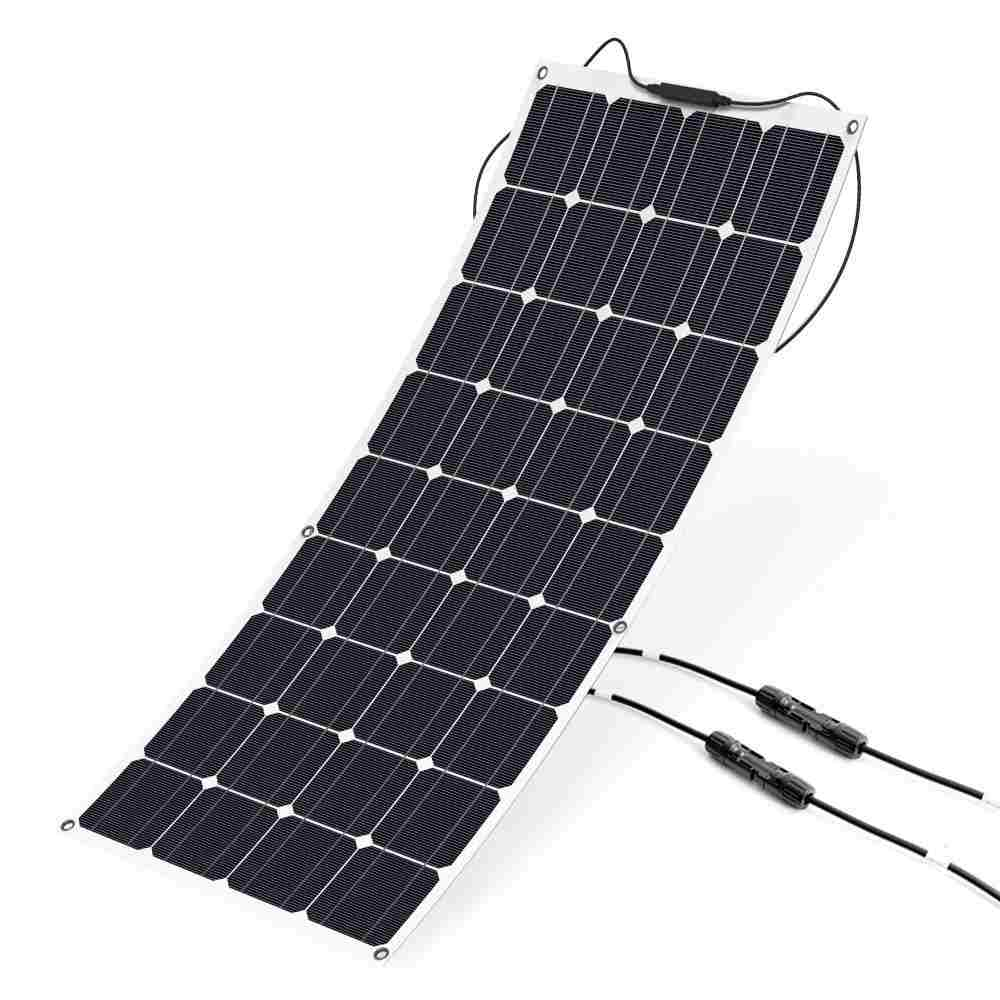 Hinergy Flexible Solar Panel 100w 18V 12V with MC4 Connectors Flexible Bendable Off-grid Solar Panel Charger for 12 Volt Battery, RV, Boat, Car, Motorhome, Camping Made in China Thumb 1