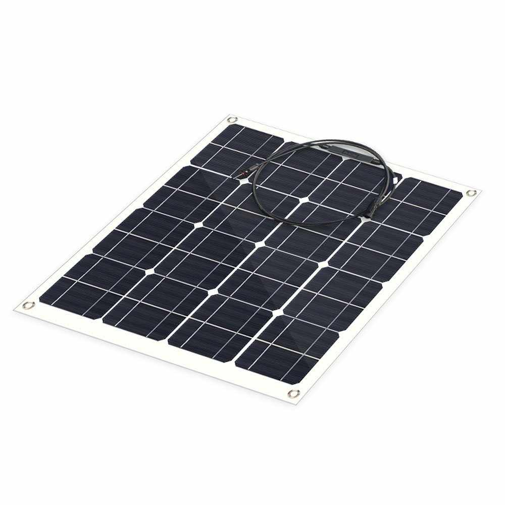 Hinergy Flexible Solar Panel 50w 12v Solar Charger for RV, Boat, Cabin, Tent from China Manufacturer Thumb 2