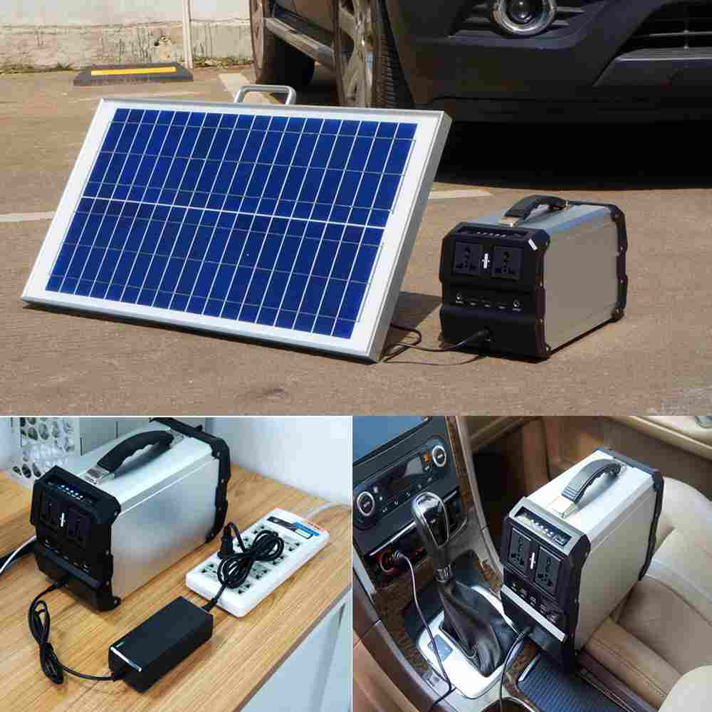 Hinergy AC DC output portable solar power generator portable solar power pack with lithium battery power pack for outdoor and home use Thumb 4