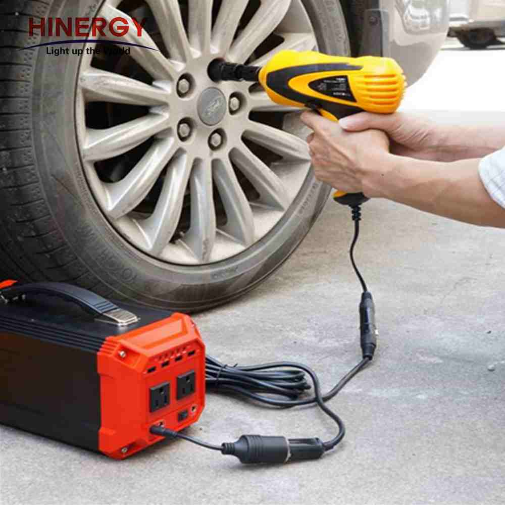 Hinergy mini portable solar generator DC AC 110V 220V 230V 300w solar generator portable solar charger for indoor outdoor use Thumb 6