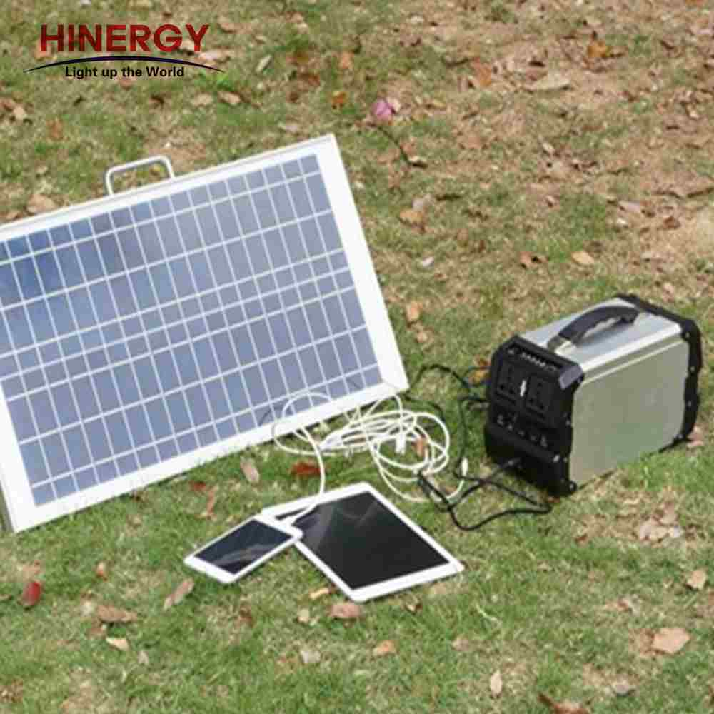 Hinergy AC DC output portable solar power generator portable solar power pack with lithium battery power pack for outdoor and home use Thumb 6