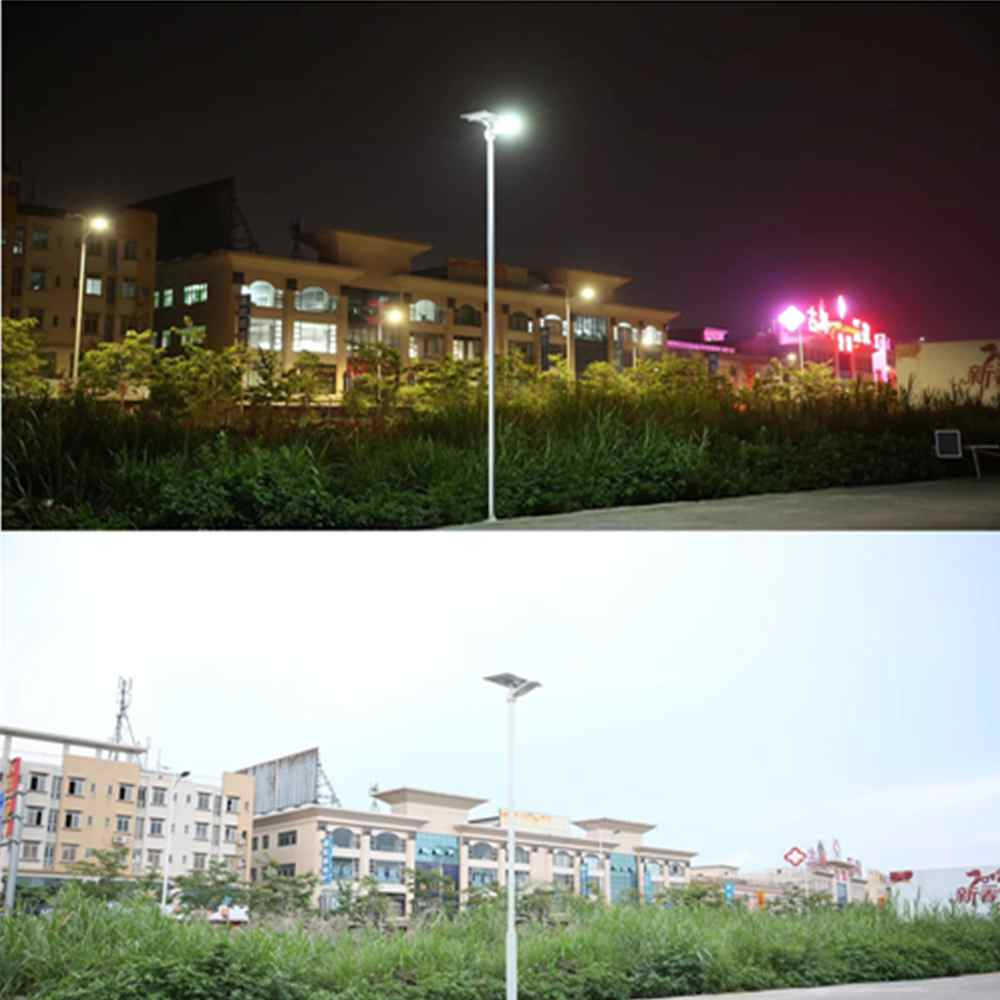 Hinergy Outdoor Waterproof IP65  LED Solar Street Light Dusk to Dawn Sensor for Yard Post Thumb 5